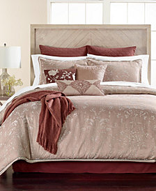 Martha Stewart Collection Distressed Damask 14-Pc.  King Comforter Set, Created for Macy's