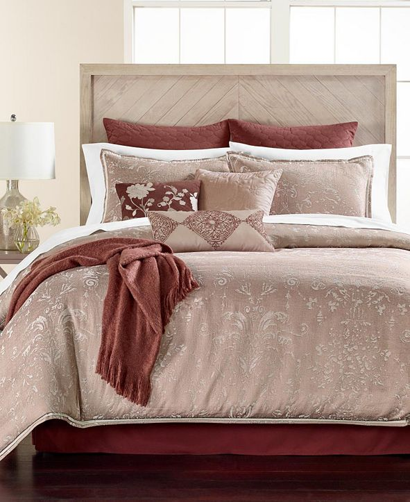 Martha Stewart Collection CLOSEOUT! Distressed Damask 14-Pc. Queen  Comforter Set, Created for Macy's