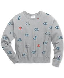 Champion Logo-Print Reverse Weave Sweatshirt