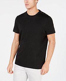 Kenneth Cole New York Mens Placket Shoulder T-Shirt