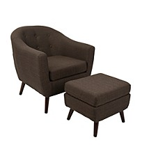 Rockwell Accent Chair and Ottoman