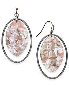 I.N.C. Hematite-Tone Oval Drop Earrings, Created for Macy's