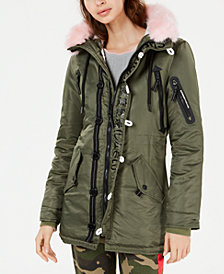 Superdry Faux-Fur-Trim Parka