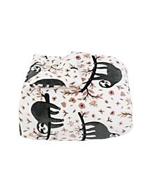 Seth Sloth Flannel Fleece 3 Piece Full/Queen Comforter Set