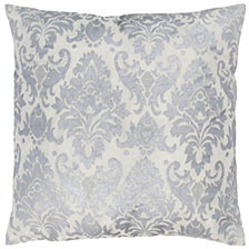 """Rizzy Home 18"""" x 18"""" Damask Pillow Cover"""