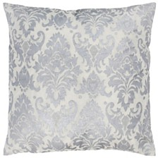 "Rizzy Home 18"" x 18"" Damask Pillow Cover"