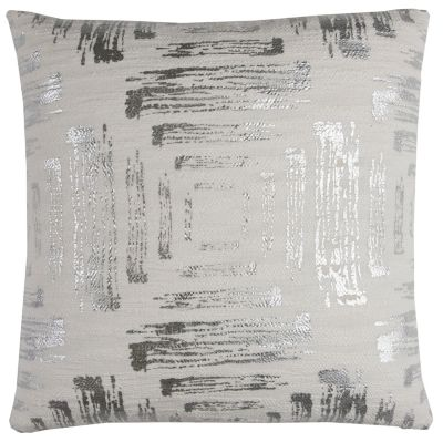 """20"""" x 20"""" Textured Abstract Foil Print Pillow Cover"""