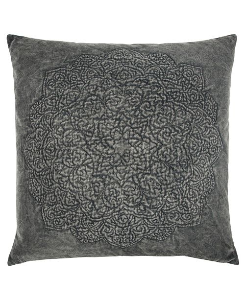 "Rizzy Home 22"" x 22"" Medallion Pillow Cover"