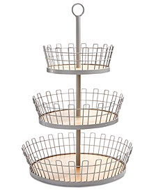3-Tiered Gray Basket, Created for Macy's