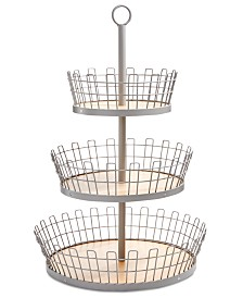 Martha Stewart Collection 3-Tiered Gray Basket, Created for Macy's