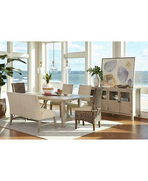 Furniture Parker Dining Furniture, 6-Pc. Set (Table, 2 Side Chairs, 2 Calypso Chairs & Bench), Created for Macy's