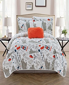 Chic Home New York 5-Pc. Quilt Sets