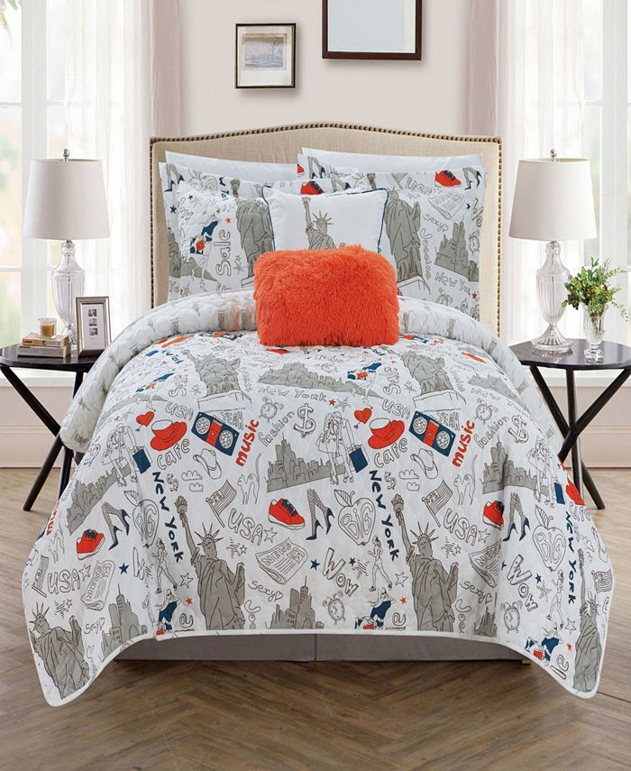 Chic Home - New York 5-Pc. Quilt Sets
