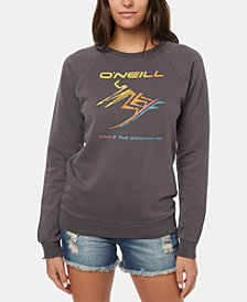 O'Neill Juniors' Throwback Graphic-Print Fleece Sweatshirt