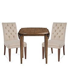Lilah Dining 3-Pc. Set (Table & 2 Upholstered Back Parsons Chairs)