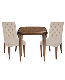 Lilah Dining Furniture, 3-Pc. Set (Table & 2 Upholstered Back Parsons Chairs)
