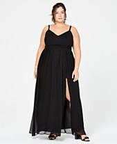 2dc38cd8bed City Studios Trendy Plus Size Chiffon Slit Gown