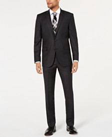 Kenneth Cole New York Men's Slim-Fit Plaid Performance Suit