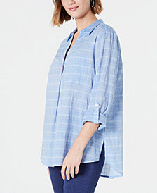 Charter Club Petite Popover Utility Top, Created for Macy's