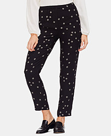 Vince Camuto Pull-On Printed Pants