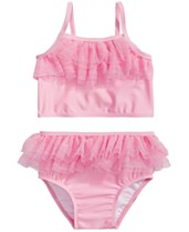 6b1a7fd30af93 First Impressions Baby Girls 2-Pc. Pink Tulle Bikini Set, Created for Macy's