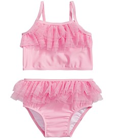 First Impressions Baby Girls 2-Pc. Pink Tulle Bikini Set, Created for Macy's