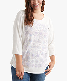 Lucky Brand Plus Size Graphic Top