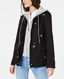 I.N.C. Star-Embellished Parka, Created for Macy's