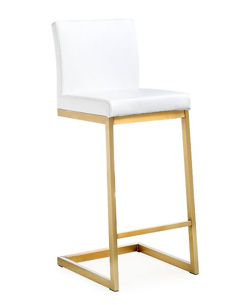 TOV Furniture Parma White Gold Steel Counter Stool