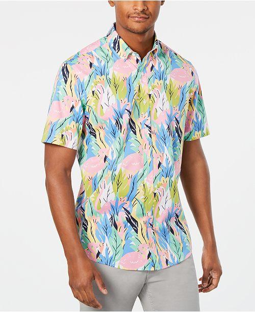 Club Room Men's Hayden Flamingo Graphic Shirt, Created for Macy's