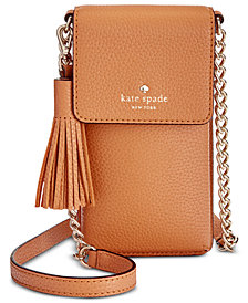 kate spade new york North South iPhone 6/6 Plus/7/7 Plus/8 Mini Pebble Leather Crossbody