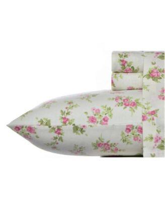Audrey Medium Pink Twin Flannel Sheet Set