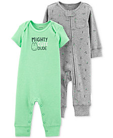 Carter's Baby Boys 2-Pc. Printed Coveralls