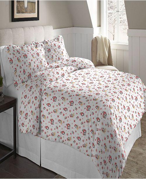 Pointehaven Superior Weight Cotton Flannel Duvet Set - Full/Queen