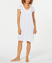 Miss Elaine Flutter-Sleeve Printed Knit Nightgown 9daa954aa