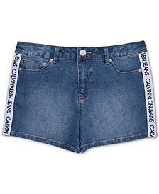 Calvin Klein Big Girls Logo Taped Shorts