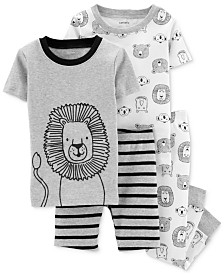Carter's Baby Boys 4-Pc. Lion-Print Cotton Pajamas Set