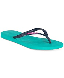c940b91ffc587 Havaianas Women s Slim Logo Pop-Up Flip Flops