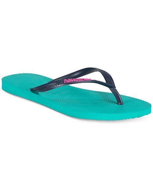 ac735c63f Havaianas Women s Slim Logo Pop-Up Flip Flops   Reviews - Sandals ...