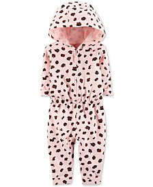 Carter's Baby Girls Cheetah-Print Hooded Coverall