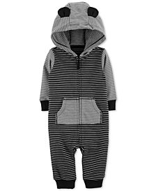 Carter's Baby Boys Hooded Striped Cotton Coverall