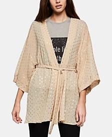 Metallic-Print Kimono