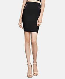 BCBGMAXAZRIA Lace-Inset Pencil Skirt