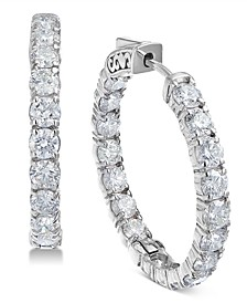 Diamond Hoop Earrings (5-3/8 ct. t.w.) in 14k White Gold