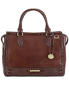 Brahmin Schooner Quincy Leather Satchel