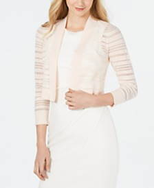 Calvin Klein Sheer-Stripe Cropped Cardigan