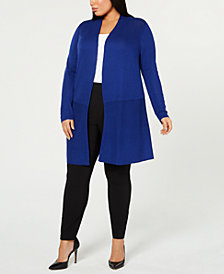 Anne Klein Plus Size Long Cardigan