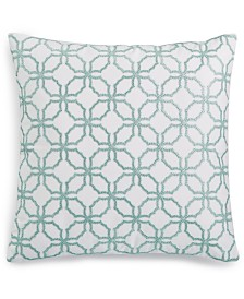 "Charter Club Damask Designs Embroidered 18"" x 18"" Decorative Pillow, Created for Macy's"
