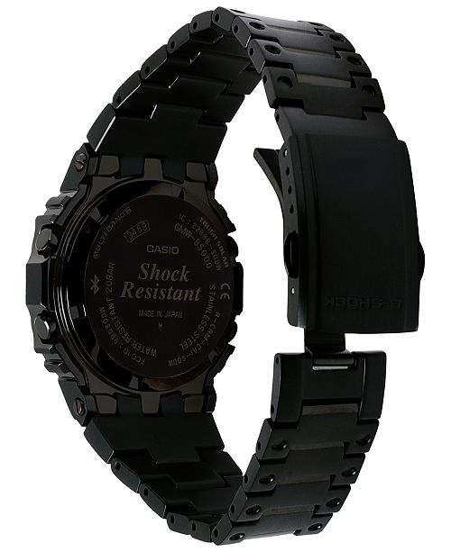 G Shock Men S Solar Digital Black Stainless Steel Bracelet Watch
