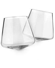 CLOSEOUT! Hotel Collection Set of 2 Tilted Glasses, Created for Macy's